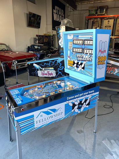 Fellowship Home Loans Custom Pinball Machine Orange County Pinballs