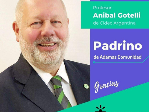 ADAMAS designa Padrino al Prof. Aníbal Gotelli.