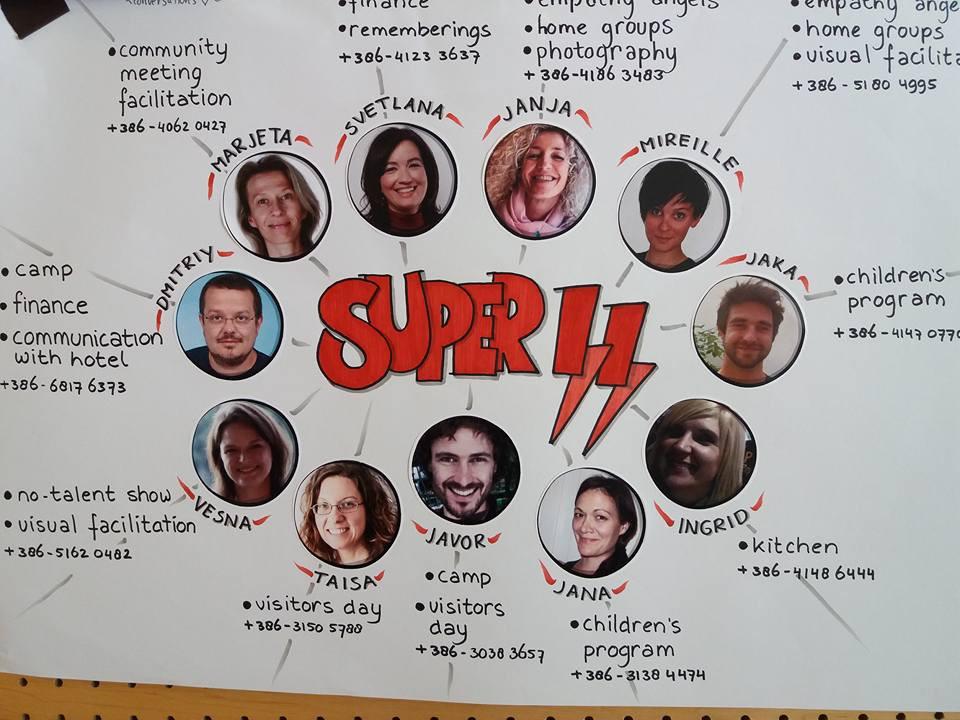 11 kişilik süper organizasyon ekibi
