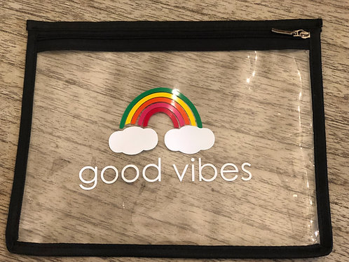 Good vibes flat pouch