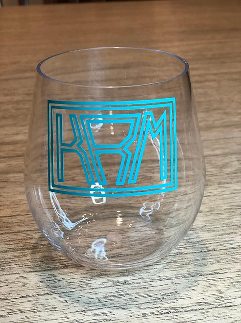 Personalized acrylic wine glasses - stemless