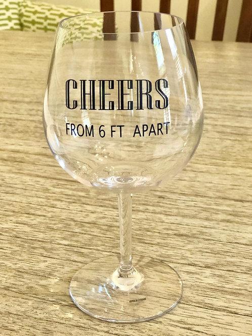 Personalized acrylic wine glasses w/ stem