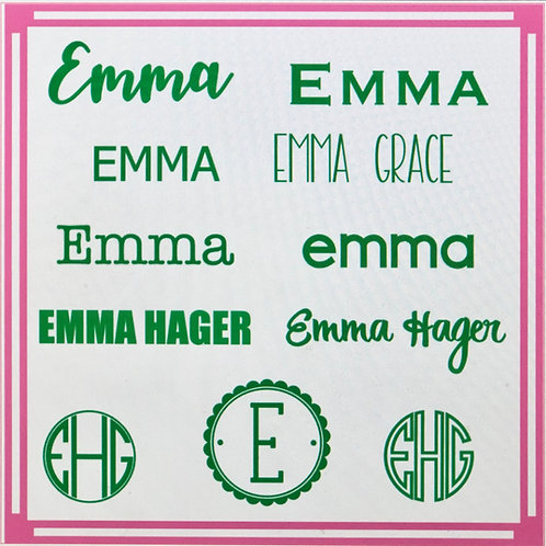 Personalized label assortment