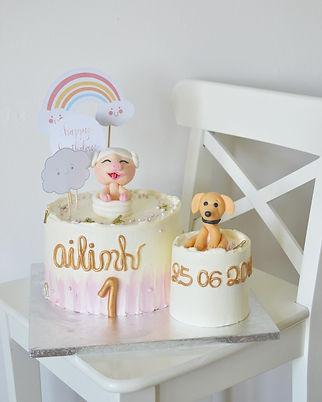 Dvojitý dort prasátko