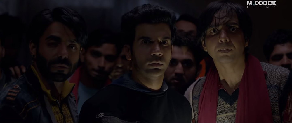Rajkummar Rao, Aparshakti Khurana, Abhishek Banerjee in a still from the film