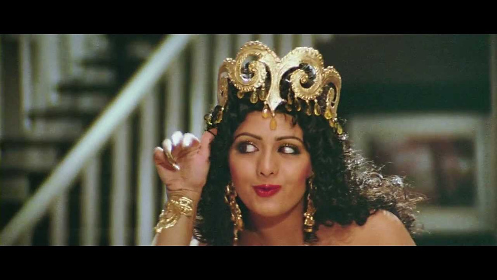 Sri devi in Mr. India as Hawa Hawai