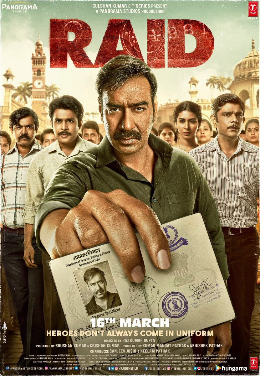 Ajay Devgn and Supporting Actors in Raid