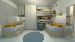 Dormitório solteiro