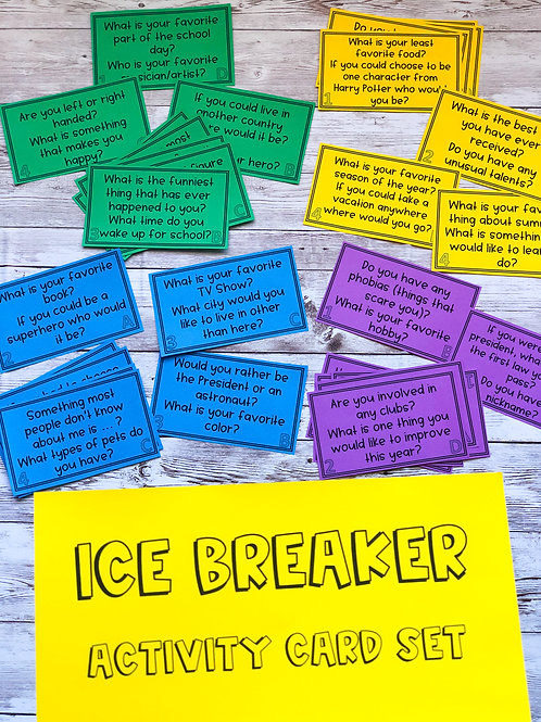 Ice Breaker Activity Cards (Set of 32)