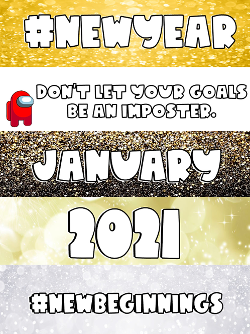January Themed Google Classroom Headers Freebie!