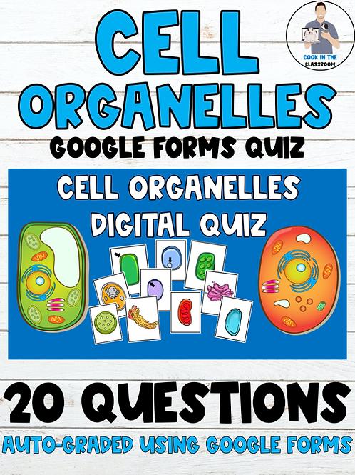 Cells Organelles Digital Quiz (Auto-Graded Google Form)