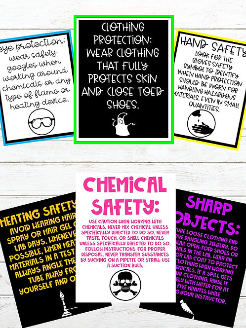 Science Lab Safety Symbols (5 Different Formats)