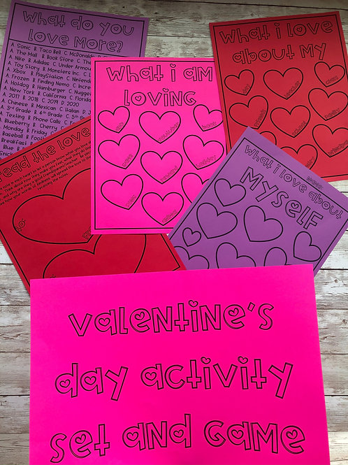 Valentine's Day Activity Set and Game