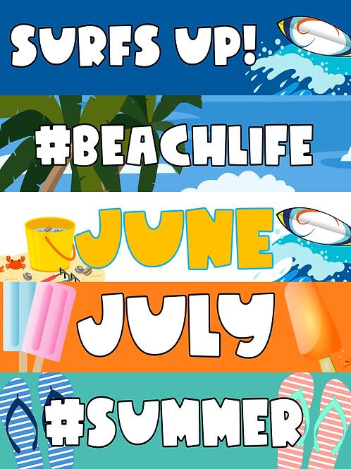 Summer Google Classroom Headers FREEBIE