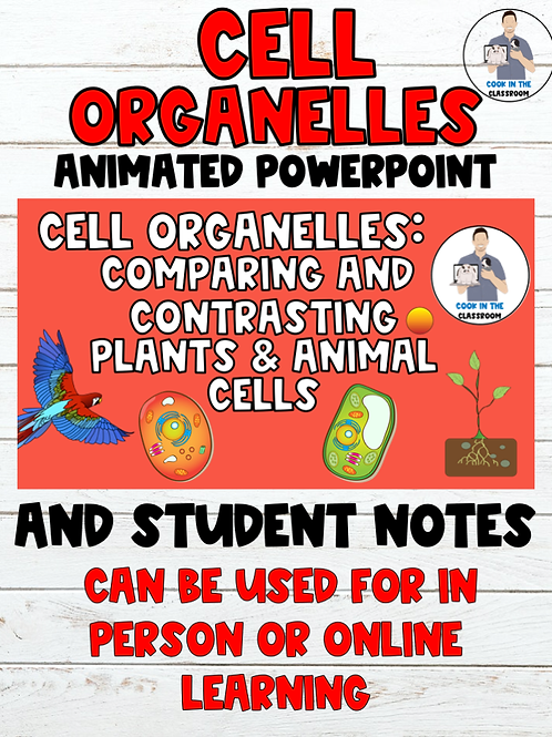 Cell Organelles Animated PowerPoint and Student Notes