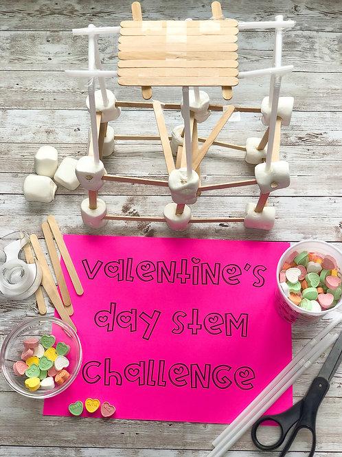 Valentine's Day Tower-Building STEM Challenge