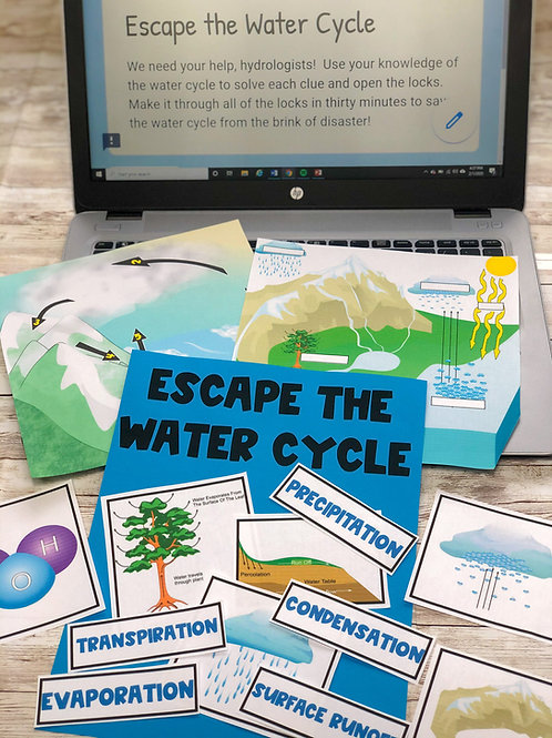 Escape the Water Cycle: 100% Digital AND Non-Digital Versions Included