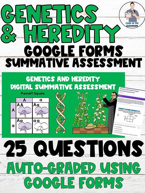 Genetics & Heredity Auto-Graded Digital Summative Assessment