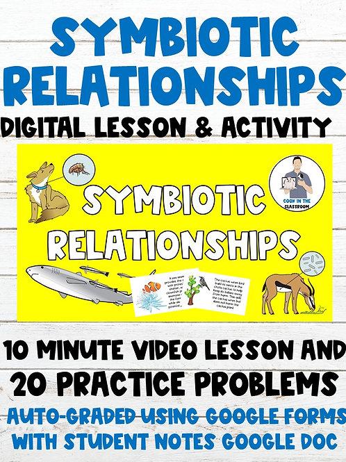 Symbiosis 100% Digital Lesson & Activity (Video Lesson+Auto-Graded Google Form)