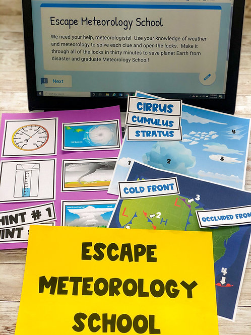 Escape Meteorology School: 100% Digital & Non-Digital Versions Included