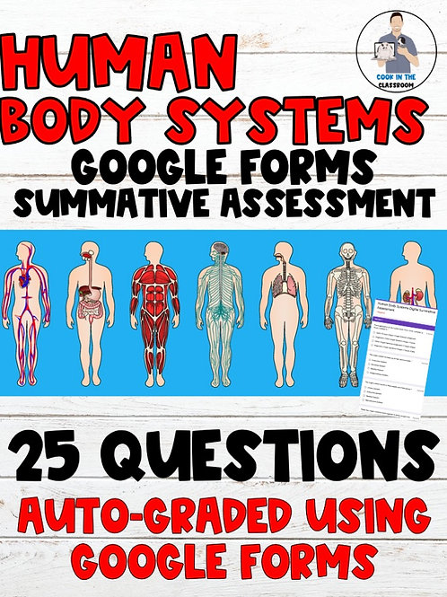 Human Body Systems Auto-Graded Digital Summative Assessment