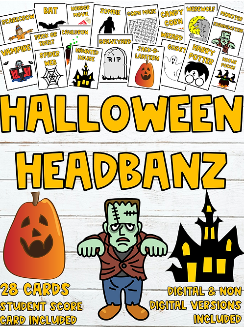 Halloween Headbanz (Digital and Non-Digital Versions Included)