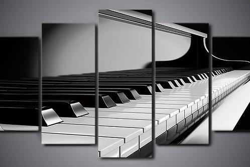 Piano - 5 Piece Canvas Set