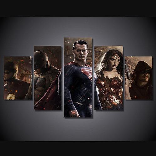 Superheroes - 5 Piece Canvas Set