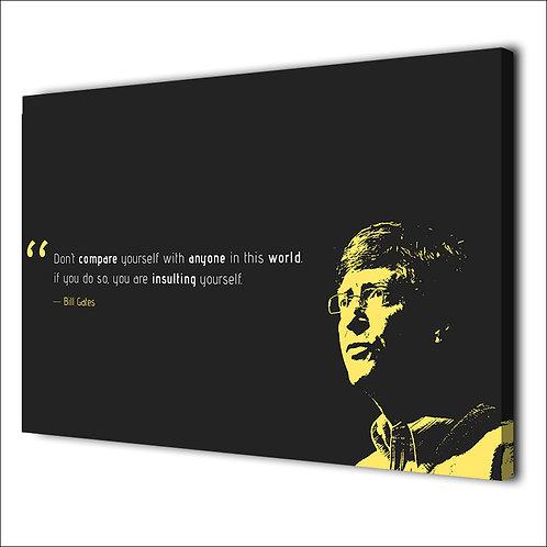 Bill Gates motivation quote -1 piece canvas