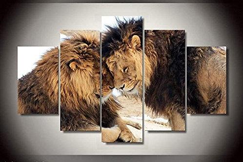 Lions - 5 Piece Canvas Set