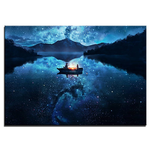 Full sky with stars - 1 piece canvas