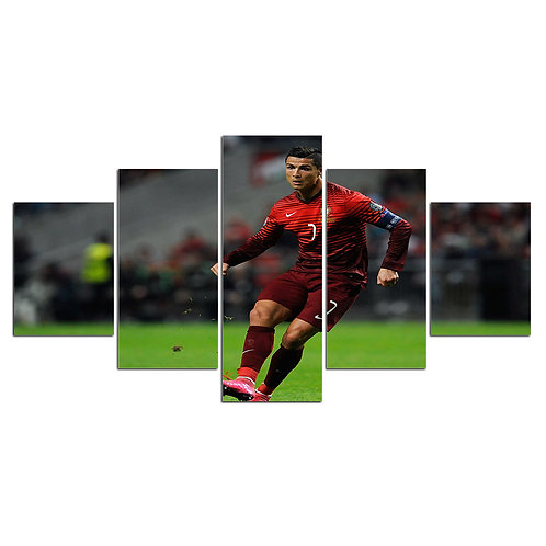 Cristiano Ronaldo soccer player print canvas 5 pieces