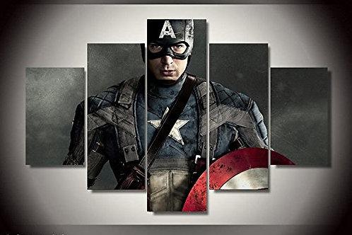 Captain America - 5 Piece Canvas Set