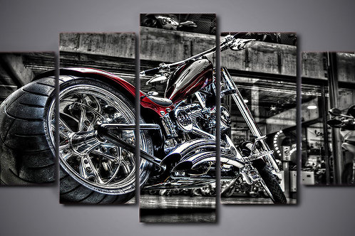 Motorbike - 5 Piece Canvas Set