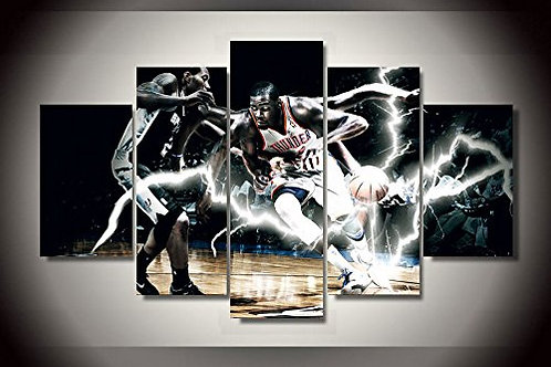 Oklahoma City Thunder NBA - 5 Piece Canvas Set