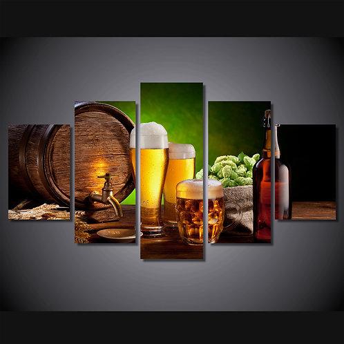 Beer Bar - 5 Piece Canvas Set