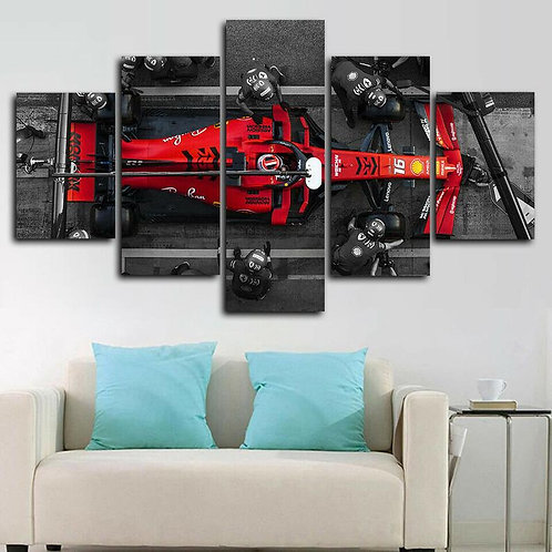 Art HD Print Home Decor Charles Leclerc F1 Ferrari Pit Stop Paintings for Living