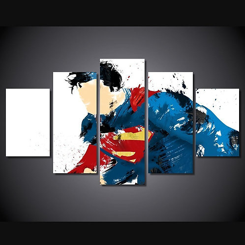 Superman - 5 Piece Canvas Set