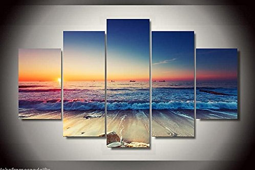 Beach Sea View - 5 Piece Canvas Set