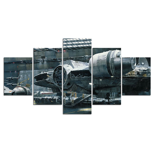 Star wars space craft wall art print canvas 5 pieces