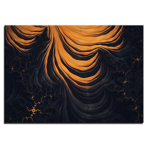 Lava effect - 1 piece canvas