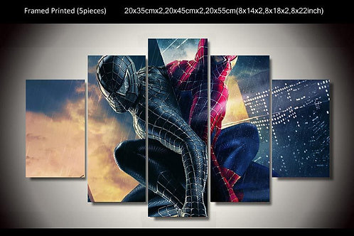 Spiderman - 5 Piece Canvas Set