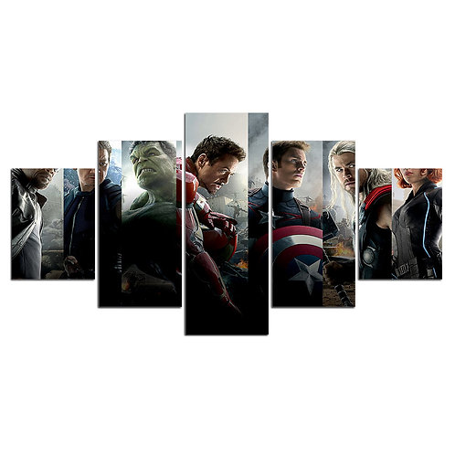 Avengers super heroes - 5 Piece Canvas