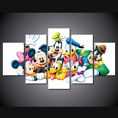 Mickey Mouse Disney Characters - 5 Piece Canvas Set