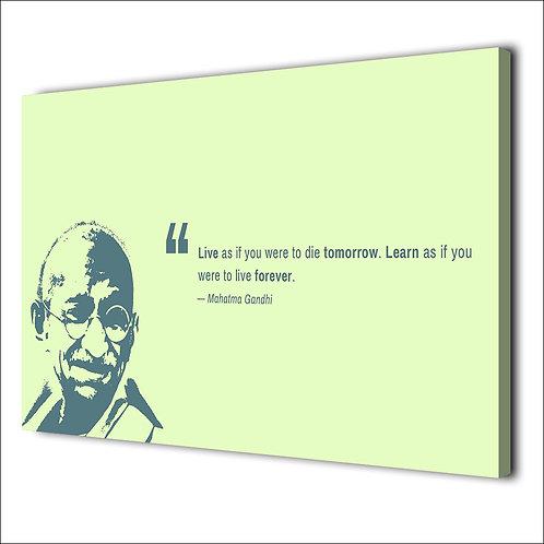 Mohandas Karamchand Gandhi motivation quote -1 piece canvas