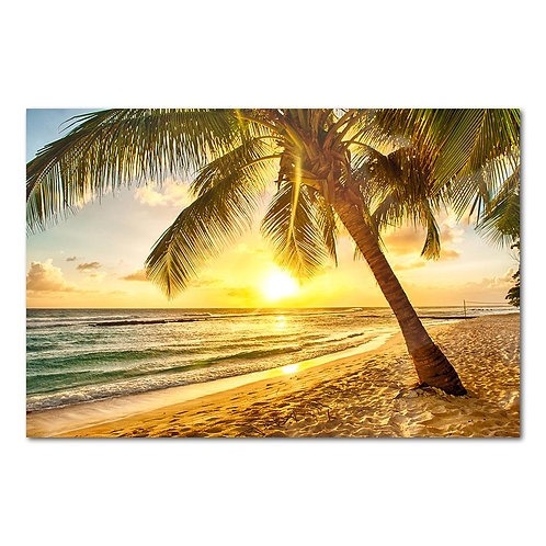Sun Set Tropical Beach - 1 piece canvas