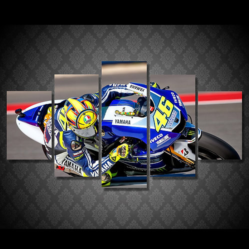 Moto Gp Valentino Rossi - 5 Piece Canvas Set