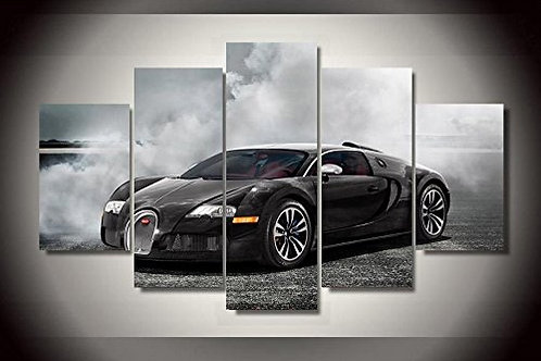 Bugatti Veyron - 5 Piece Canvas Set