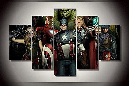 The Avengers - 5 Piece Canvas Set