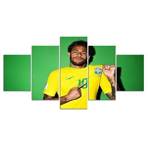 Neymar Brazil soccer player print canvas 5 pieces